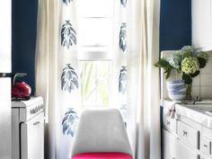 Transform ordinary draperies into the exact look you want with stencils and spray paint.