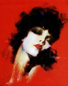 Illustration by Rolf Armstrong c. 1930's