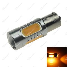 1X Yellow Car 5 COB 7.5W LED 150° BAU15s PY21W Turn Light Side Tail Bulb 20786 #zhansz