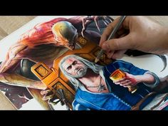 SPEED DRAWING Geralt of Rivia - The Witcher 3: Blood & Wine - YouTube