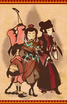 Ty Lee & Princess Azula & Mai (Avatar: the Last Airbender). Avatar Aang, Avatar Airbender, Team Avatar, Legend Of Aang, Manga, Ty Lee, Pokemon, Avatar Series, Iroh