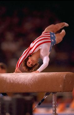 1984 Summer Olympics USA Mary Lou Retton in action during Vault of Women's All Around at Pauley Pavilion Los Angeles CA 7/29/19848/11/1984 CREDIT...