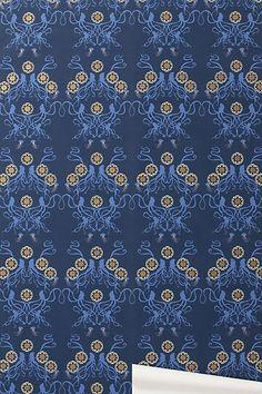 "Octopus Garden Wallpaper via anthropologie, silk screened on clay-coated paper. 30' long rolls x 27"" wide. 18"" repeat."