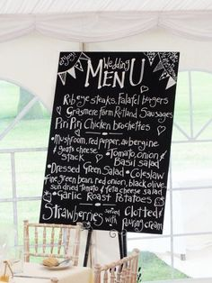 Blackboard menu - beautiful writing, and excellent food choice!