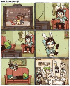 KnT - 89 by Z-T00N oops This is what my little brother will probably do. Also, I love Ted's pjs