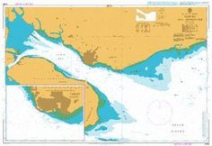 British Admiralty Nautical Chart 2099: Tawau and Approaches