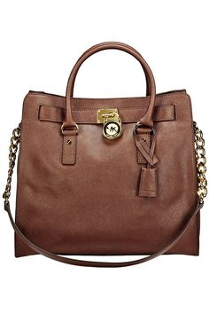 Michael Kors Hamilton Saffiano N/S Tote In Mocha...yes please!
