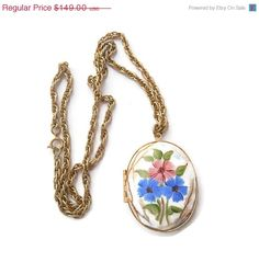 92%Off Sale Vintage Large Guilloche Pendant by IchLiebeVintage