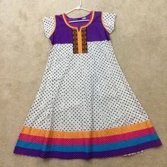 Soft cotton white tunic or dress - Indian Perfect summer outfit. Can be worn as dress or goes well with any bottom Alka Dresses
