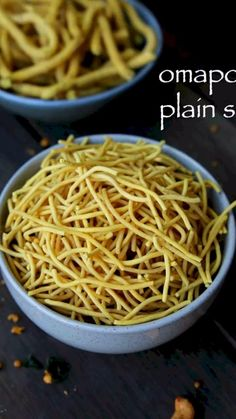 plain sev recipe, omapodi recipe, how to make omapodi mixture with step by step photo/video. simple, easy deep fried snack as diwali snack or other festival Indian Dessert Recipes, Indian Snacks, Spicy Recipes, Cooking Recipes, Mexican Rice Recipes, Dhokla Recipe, Paratha Recipes, Vegetarian Snacks, Galette