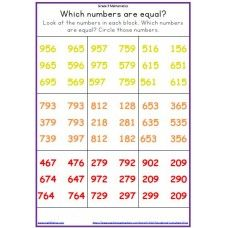 Graad 3 Wisk: Watter getal is kleiner? [PDF][KAPV T1.4] | Wiskunde ...