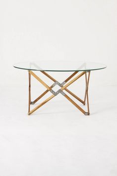 Truss Coffee Table. Inspired by paperhanger's stand from 1930's.