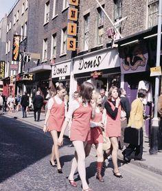 Girls in Carnaby Street circa 1968