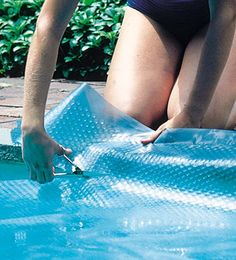 Cheap Solar Blankets for Inground Swimming Pools 12 mil Blue Solar Pool Covers