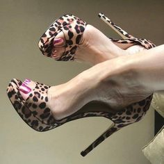 Leopard Print Heels Platform Stiletto Heel Sandals for Work Fashion Stylish Open Toe High Heels Pumps Shoes For Women Sexy Trendy Shoes For Girls, Formal event, Date, Anniversary, Going out Fab Shoes, Pretty Shoes, Dream Shoes, Beautiful Shoes, Cute Shoes, Shoes Heels, Flats, Platform Stilettos, Pumps