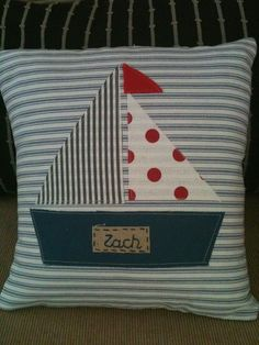 Gorgeous ahoy there sailing boat cushion - by cocoandmilo on madeit