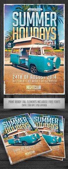 Summer Flyer Templates Vol  By Roberto Perrino Via Behance