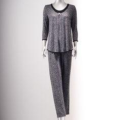 Simply Vera Vera Wang Pajamas: Sweet Disposition Pajama Set - Women's Extended Size