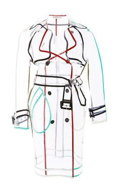 Clear See through Nylon Wanda Trench by Wanda Nylon for Preorder on Moda Operandi