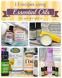 13 Recipes To Use Essential Oils to make non-toxic body and beauty products