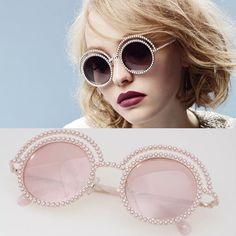 ★★★★★ Round Pearl Sunglasses #Women #Retro Brand Sunglasses 2016 Polarized #DIY #Sale #Hot #Summer #Cool #2016 #Vintage #Luxury #Sunglasses