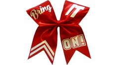 How to put text on a cheer bow with Lisa Pay. Repining because I need this bow.