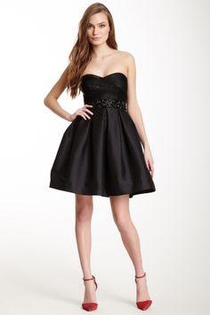 Strapless Sweetheart Beaded Dress