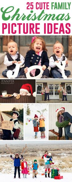 MyFirstKid.com | 25 MORE Cute Family Christmas Picture Ideas via @LollyJaneBlog LollyJane.com | Follow us on FB https://www.facebook.com/groups/myfirstkid/