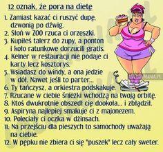 Pora na dietę Humor, Memes, Funny, Polish, Inspiration, Biblical Inspiration, Vitreous Enamel, Humour, Meme