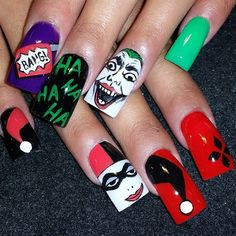 Joker And Harley Quinn By Oli123 From Nail Art Gallery