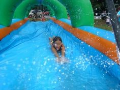 Slip and slide - can be made with an old shower curtain liner and sprinkler! Sprinkler Party, Slip N Slide, Just Be Happy, Event Services, And So The Adventure Begins, Young And Beautiful, Outdoor Fun, Summer Time, Yard Party