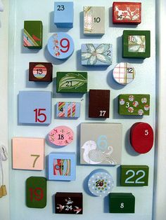 DIY Advent Calendar out of jewelry boxes