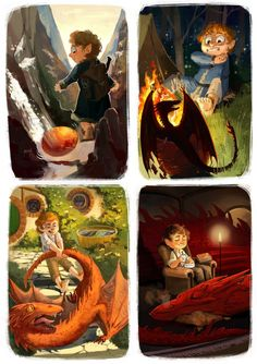 """lis-alis: """" and my second page for the Amralime Hobbit Fanart Anthology. Bilbo and his own Swaug Jr. ¯\_(ツ)_/¯ The artbook will be available for purchase until September your copy. Smaug Dragon, Old Dragon, Dragon Art, Johnlock, Hobbit Art, The Hobbit, Legolas, Tauriel, Fantasy Creatures"""