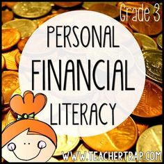 Personal Financial Literacy Pack for 3rd Grade! Lessons, resources, games, and tools for mastering the personal financial literacy math standards.