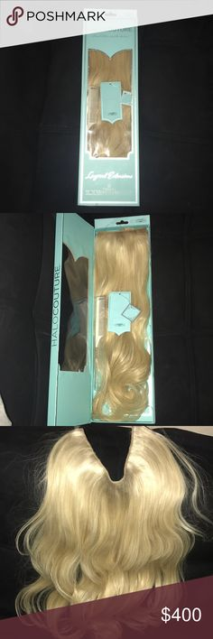 Halocouture extensions Brand new layered 22-inch halo color #60 (blond) never colored or cut! Beautiful and Super easy to use. %100 real remy human hair  Comes with comb halocouture Accessories Hair Accessories