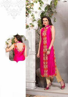 Pink Art Raw Silk Designer Salwar Kameez 43112   Things to Wear ...