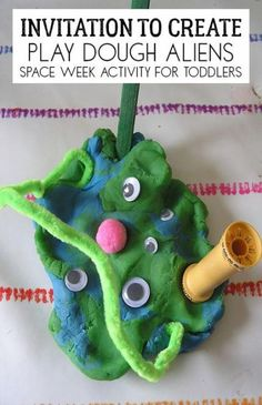Art therapy activities for toddlers Space week activity for toddlers to create play dough aliens with suggested books to extend this simple invitation to play further includes materials used and ideas for more space-themed activities for little ones. Space Theme Preschool, Space Activities For Kids, Art Therapy Activities, Preschool Activities, Space Theme For Toddlers, Outer Space Crafts For Kids, Camping Activities, Preschool Classroom, Toddler Preschool