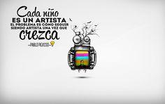 """¡Buenos días!  """"Cada niño es un artista, el problema es cómo seguir siendo artista una vez que crezca"""" #Picasso"""