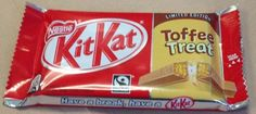 FOODSTUFF FINDS: Kit Kat Toffee Treat Version 2(!) Four Fingers Edition [By @Cinabar]