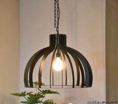 Zwarte Hanglamp Catania van staal - Woonwinkel Alle Pilat
