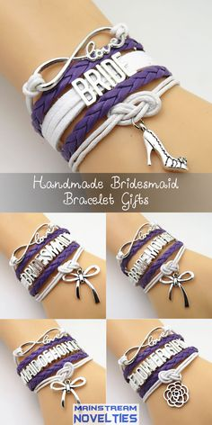 What a perfect Bridal Party Gift for an Purple Themed Wedding! I love these.