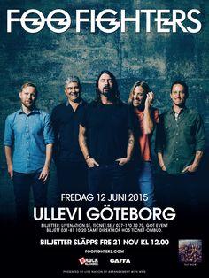 FOO FIGHTERS | 12 juni | Göteborg, Ullevi | #FooFightersUllevi #artwork #FooFighters