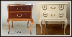 Shabby Chic, Chalk Paint Furniture, Nightstand, Arts And Crafts, Diy, Painting, Home Decor, Decoration, Ideas