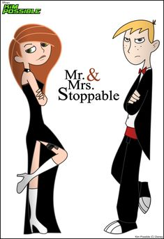 Kim Possible and Ron Stoppable are Mr.  Mrs. Smith!