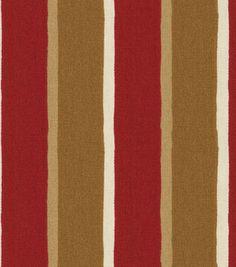 Home Decor Fabric-Pkaufmann Canvas Spoly Dalila Red