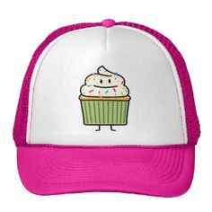 Happy Cup cake Mesh Hat