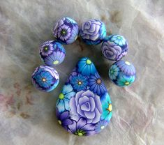 set of beads made for pcagoe bead swap | Angela Hickey | Flickr