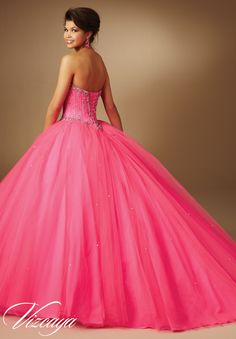 Quinceanera Dress 89043 Jeweled Beading on Tulle