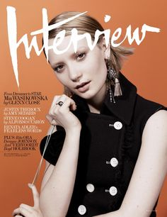 WOW what a great photo. perfect colors. - Mia Wasikowska on the cover of Interview magazine's August issue.