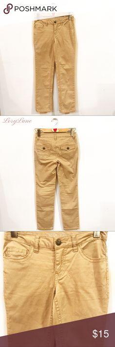 CHEROKEE GIRLS TAN PANTS Size 12 Girls casual tan pants, 5 pockets, zipper by Cherokee size 12 Cherokee Bottoms Casual